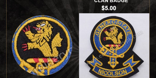 NICOLSON GENEROSITATE CLAN BADGE